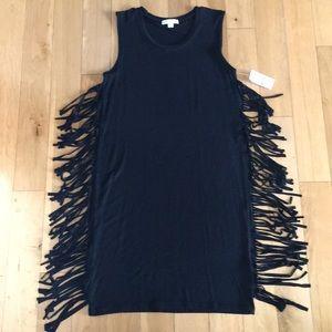 Dresses & Skirts - Fringe Tee Shirt Dress